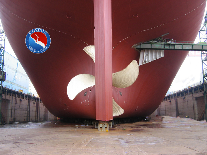 rudder and propeller